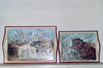 Vassoi in legno dipinti a mano